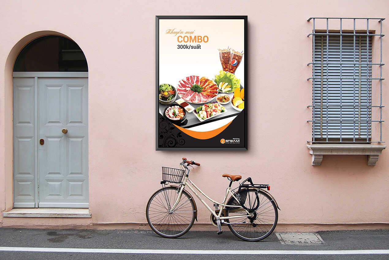 Poster nhà hàng isteam